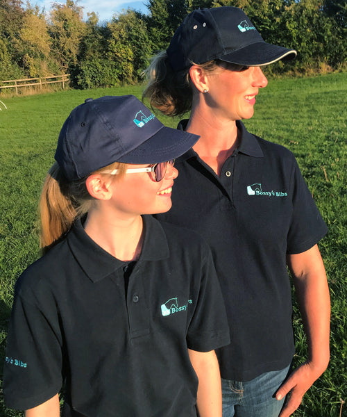 A quality polo shirt that is branded with the Bossy's Logo