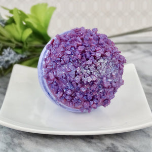 Whipped Up Wonderful - Lavender Druzy Bath Bomb