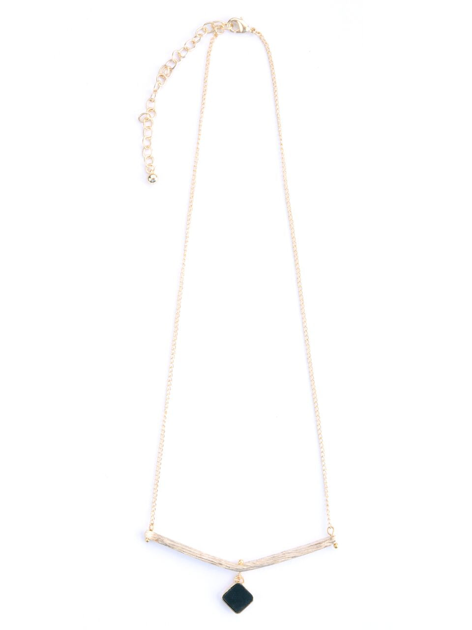 Mata Jewelry - Diamante Necklace Gold