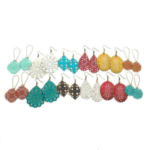 Gleeful Peacock - Filigree Earring Pack 12 Pack