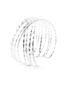 Mata Jewelry - Crosswinds Cuff Silver
