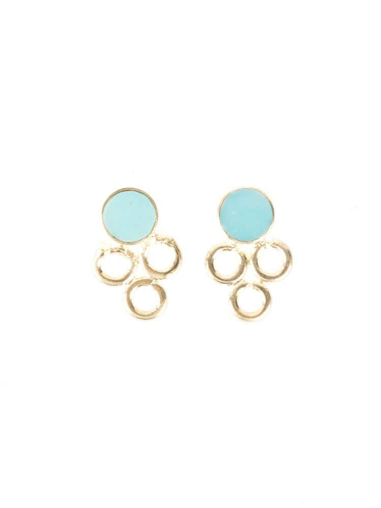 Mata Jewelry - Full Circle Studs Teal