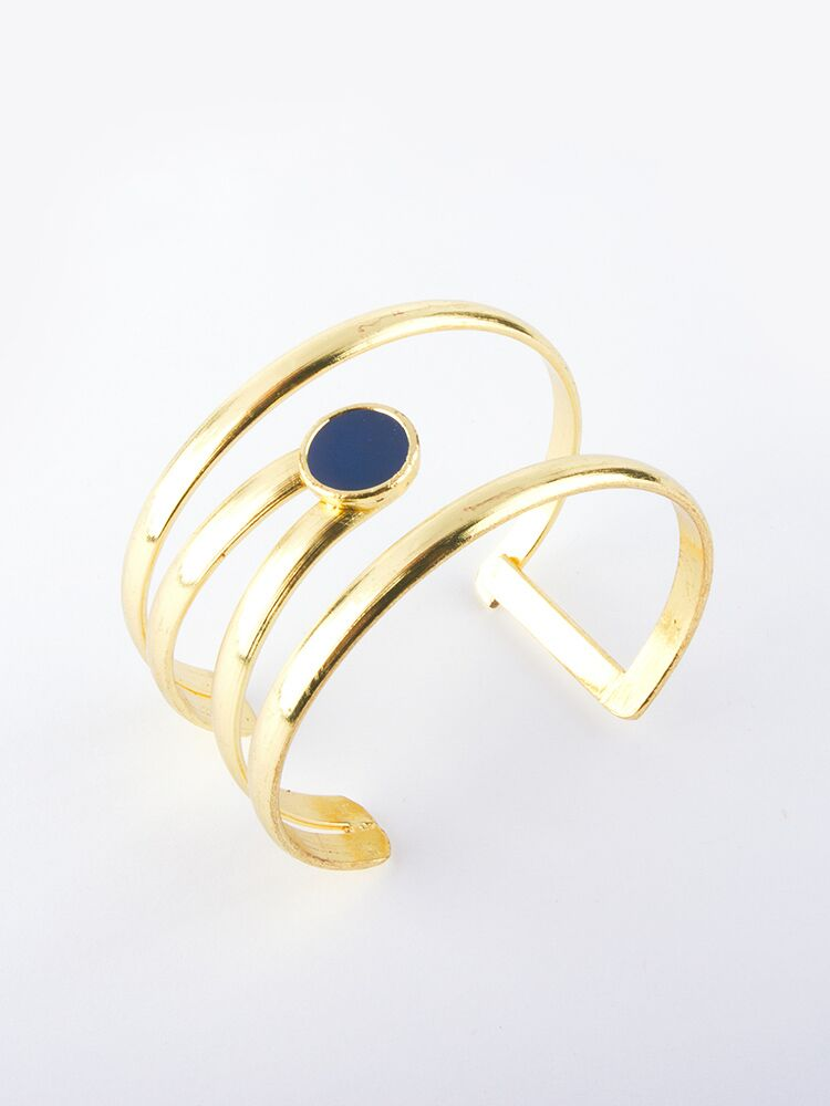 Mata Jewelry - Illumination Cuff Navy