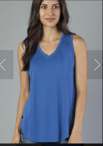 Esther V neck pocket tank