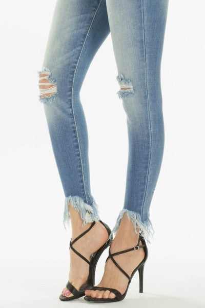 KanCan cropped jean with fringe