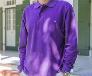 Longsleeve Stonewall Heathered Polo
