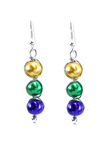 3 bead earrings