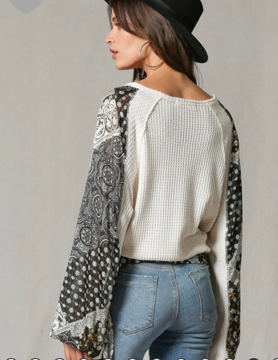 Faux Wrap Thermal Top