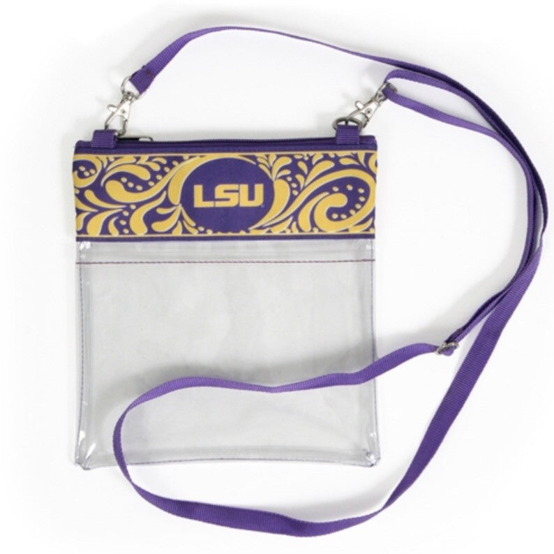 Clear LSU Crossbody Purse