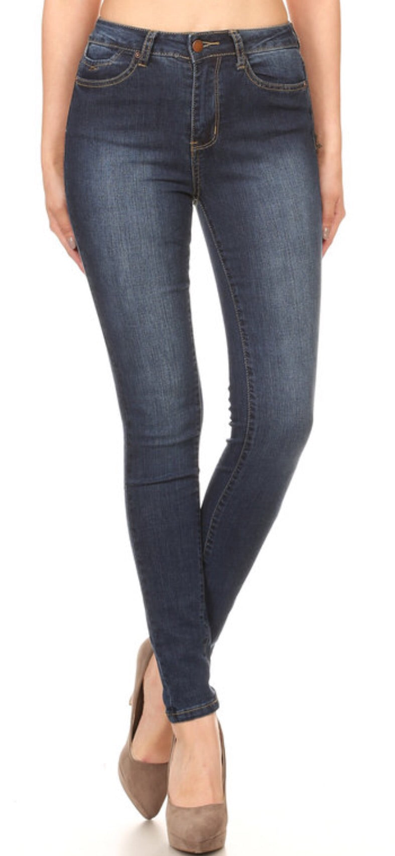 High Rise Dark Denim