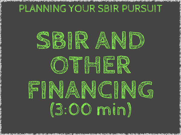 Government Grants Training: THE SBIR FUNDING CYCLE