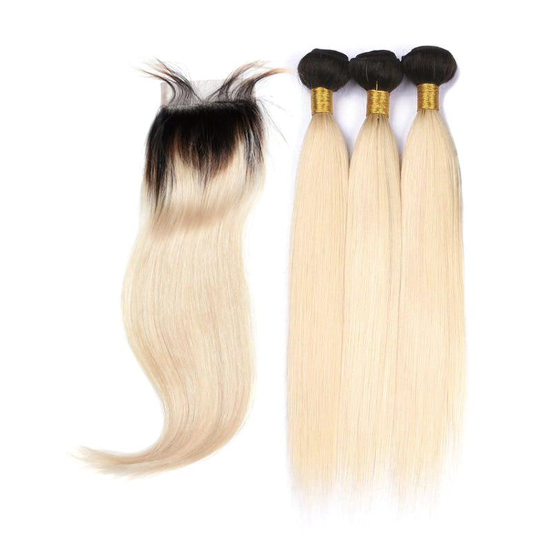 1B/613 3 Bundles Deal with 1 Closure