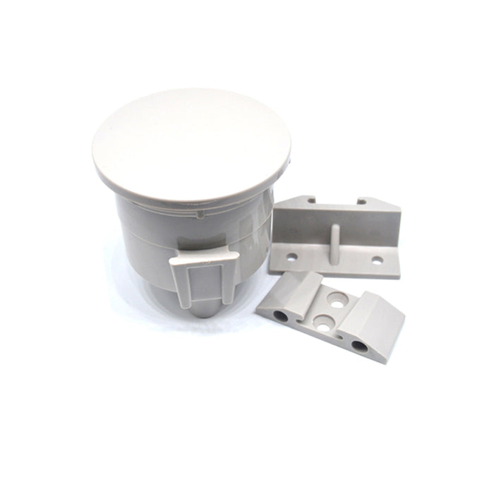 Pkg of 5 - Free Shipping Worldwide - Vacuum Canister Locking Lid, Light Grey.
