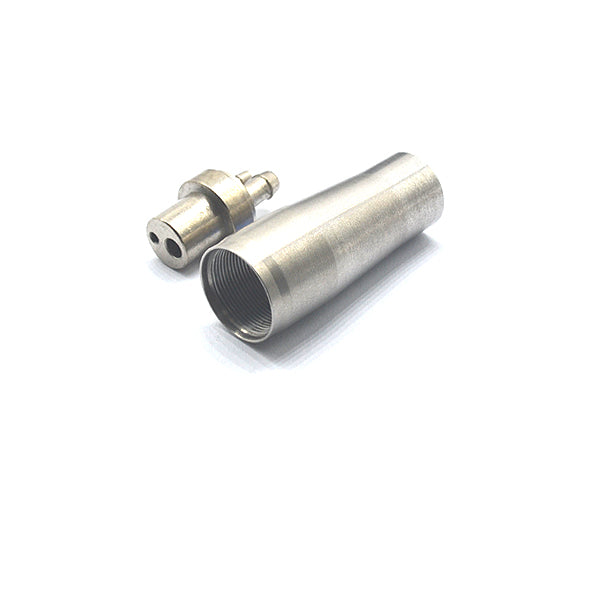 2 HOLE BORDEN HANDPIECE ADAPTOR WITH STAINLESS NUT.
