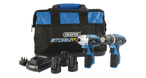 Draper Storm Force 10.8V Drill and Drive Twin Kit