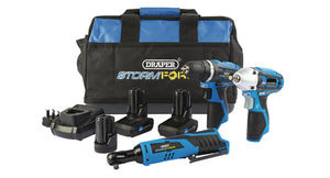 Draper Storm Force 10.8V Power Interchange Drill Drive Kit