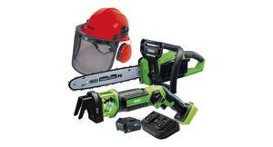 D20 Cordless Garden Saw Kit With Helmet