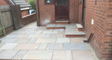 Autumn Brown Indian Sandstone Paving