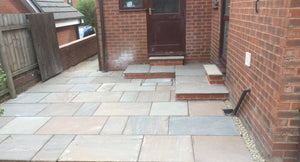 Autumn Brown Indian Sandstone Paving 01