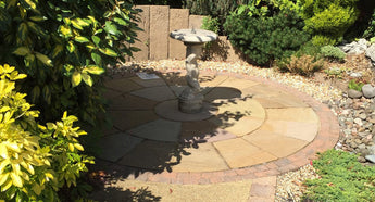 Autumn Brown Indian Sandstone Circle