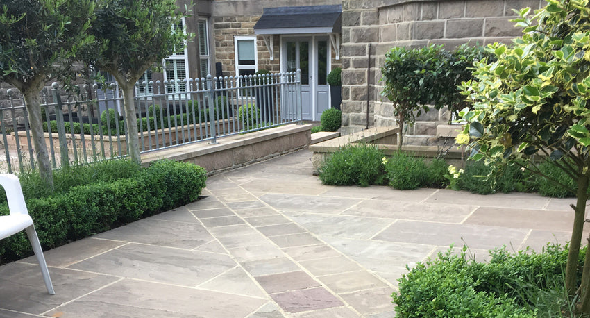 Autumn Brown Indian Sandstone Paving 02