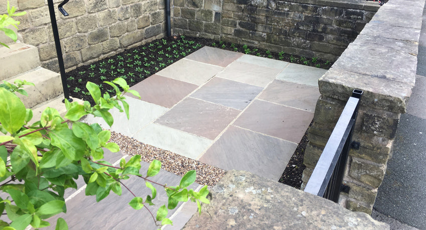 Autumn Brown Indian Sandstone Paving 04