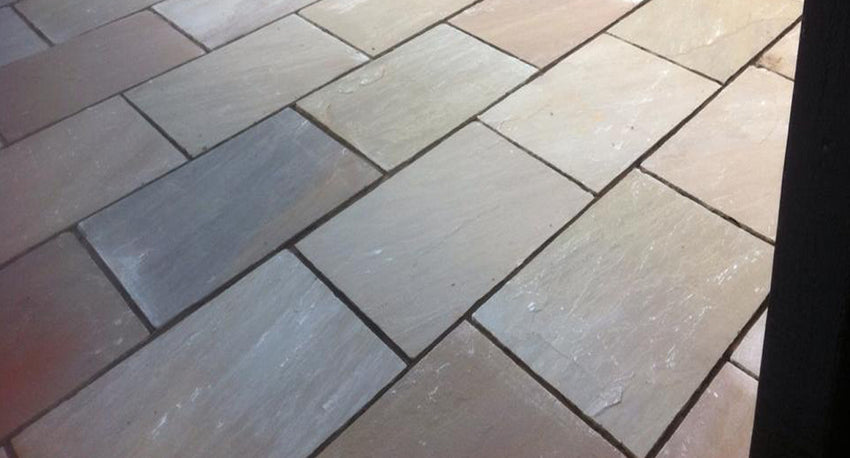 Autumn Brown Indian Sandstone Paving 03