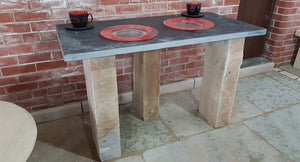 Black Slate Reclaimed Table