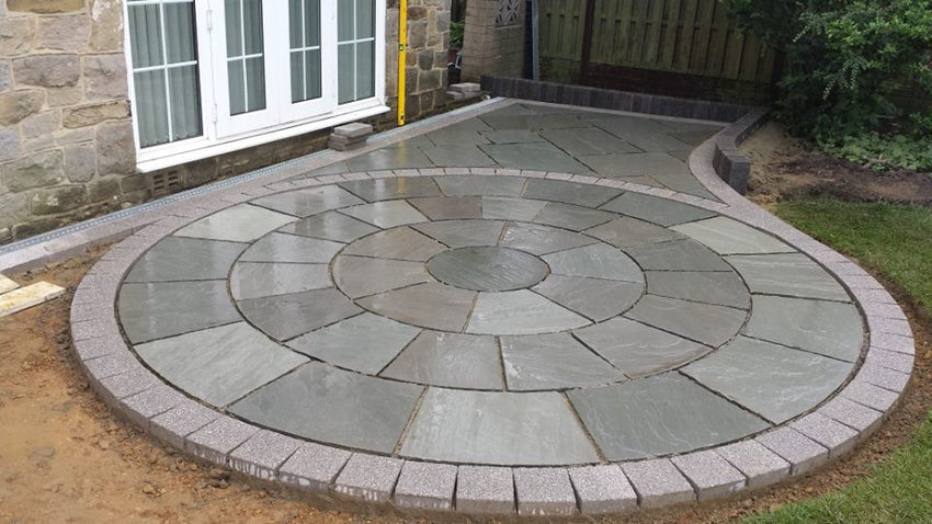Blue Grey Indian Sandstone Circle