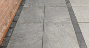 County Gris Dark Grey External Porcelain Tiles