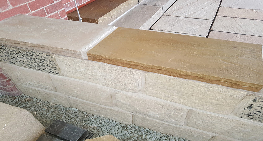 Golden Leaf Riven Coping Stones - Packs