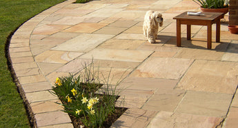 Golden Leaf Indian Sandstone paving 1