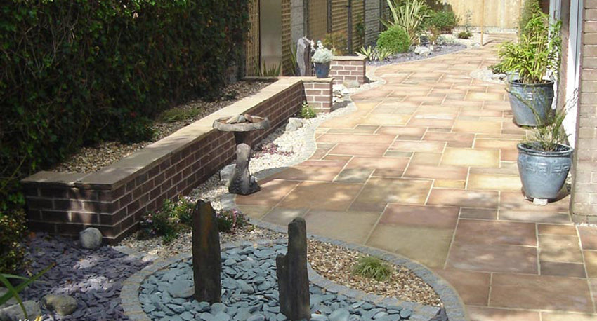 Golden Leaf Indian Sandstone Paving