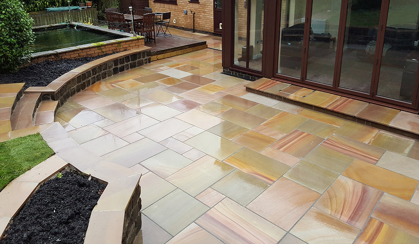 Golden Leaf Sawn Paving