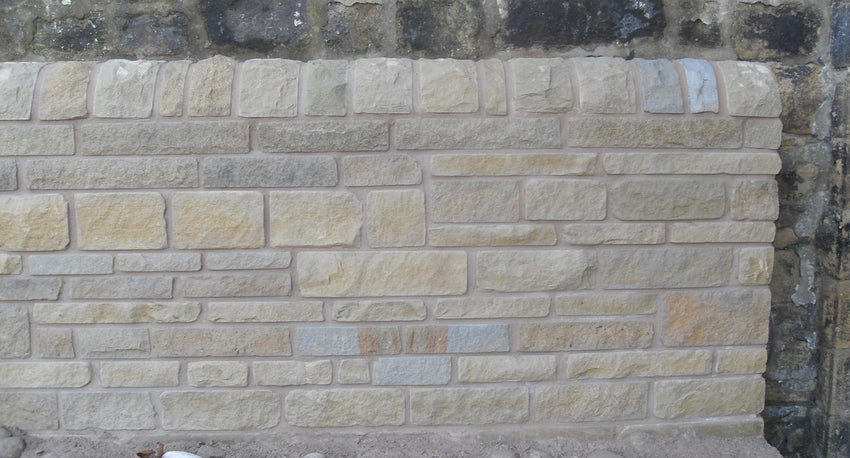 Random Coursed Natural Stone Walling