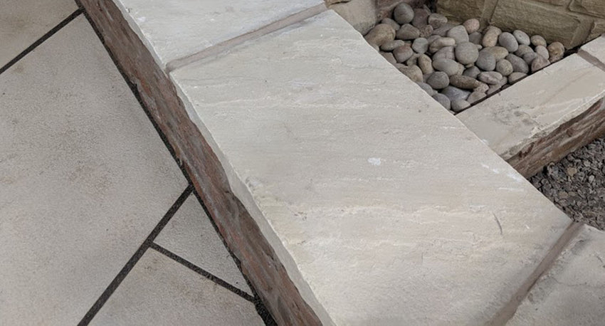 Fossil Mint Riven Coping Stones