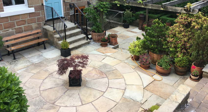 Fossil Mint Indian Sandstone Paving