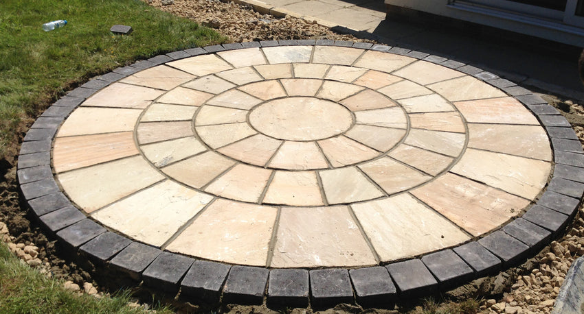 Fossil Mint Indian Sandstone Circle