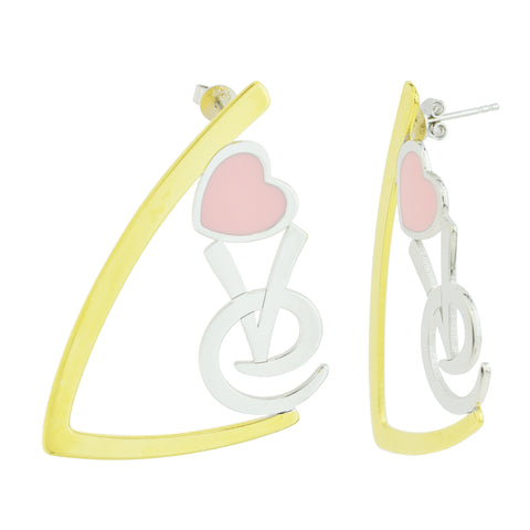 Love enamel Earrings