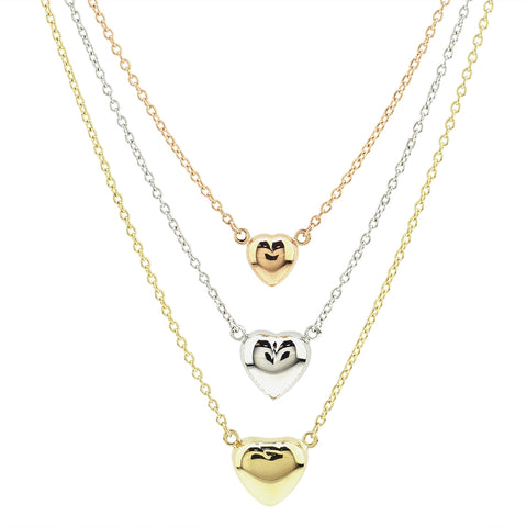 Tricolor Hearts Necklace