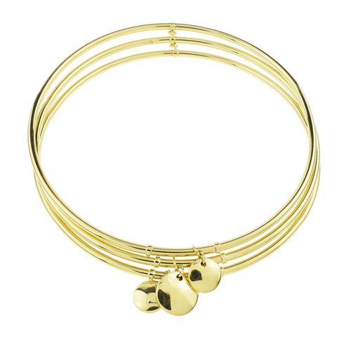 Tri-Linked Disc Bangle