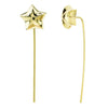 Star Curved Post Earrings