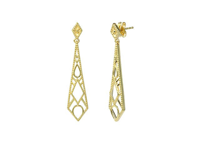 Retro Filigree Earrings