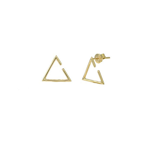 Open Triangle Earrings