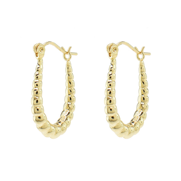 Oblong Beaded Ear Huggers