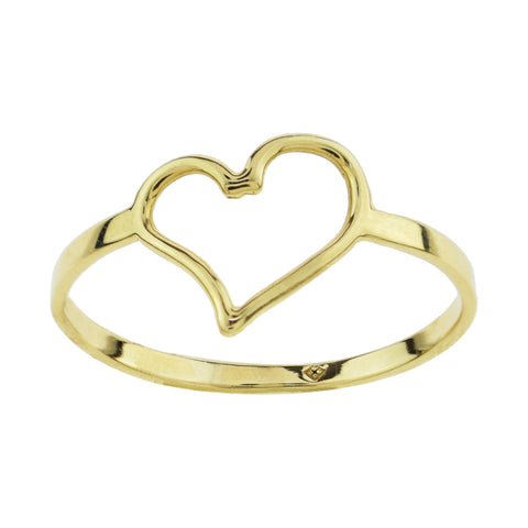 Open Heart Midi Ring