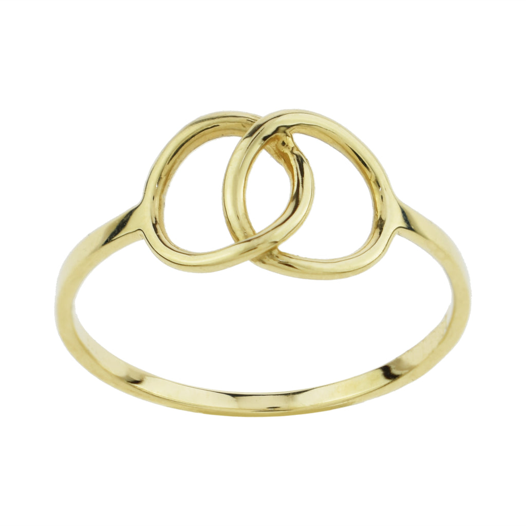 Linked Circle Midi Ring