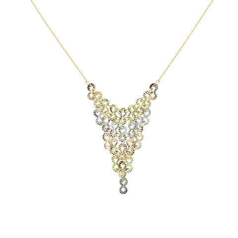 Tri-Tone Chandelier Necklace