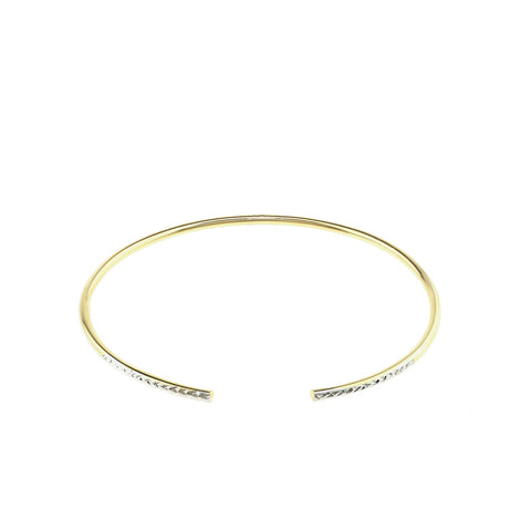 Two-Tone Diamond Cut Bracelet