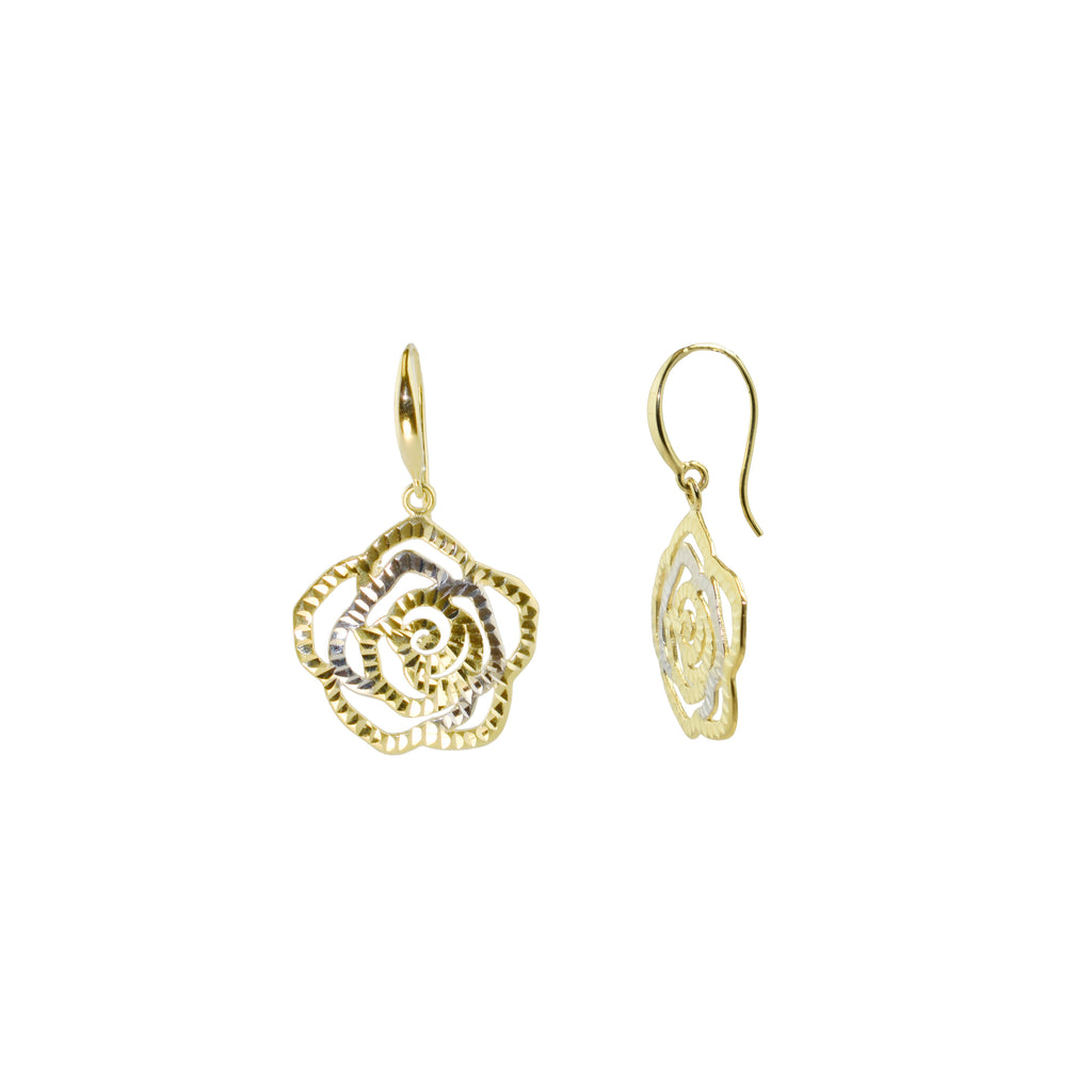 Rosé Drop Earrings